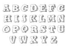 Alphabet set 3d form Stock Photography