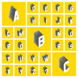 Alphabet set. 3d  illustration. Design elements. Stock Photography