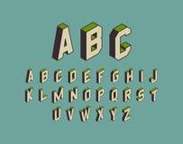 Alphabet set. 3d vector illustration. Design elements royalty free illustration