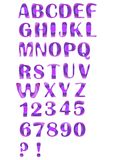 Alphabet set designed in purple mosaic. Uppercase alphabet set designed in purple mosaic royalty free illustration