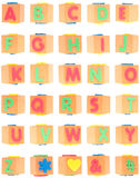 Alphabet Set on Foam Blocks Royalty Free Stock Images