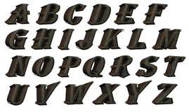 Alphabet Set - futuristic Stock Image