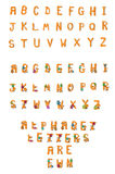 Alphabet Set Fuzzy Wuzzy A to Z Royalty Free Stock Photos