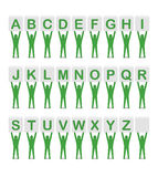 Alphabet. Set of letters. Royalty Free Stock Photo