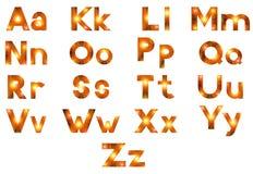 Alphabet, Set of Letters, Firework Royalty Free Stock Photos