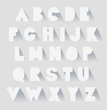 Alphabet set with shadows. vector extra bold fat capital letters. As paper vector illustration