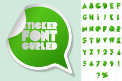 Alphabet set of symbols in the form of stickers Royalty Free Stock Photo