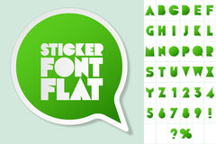 Alphabet set of symbols in the form of stickers Stock Images