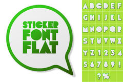 Alphabet set of symbols in the form of stickers Royalty Free Stock Photos