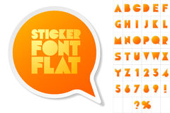 Alphabet set of symbols in the form of stickers Royalty Free Stock Photography