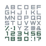 Alphabet Set Vector. Alphabet Set, abc, punctuation marks stock illustration
