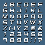 Alphabet Set Vector. Alphabet Set, 3D abc, punctuation marks, isolated Royalty Free Illustration