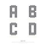 Alphabet set , vector illustration. block style. Royalty Free Stock Image