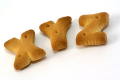 Alphabet Shape Biscuit Stock Photography