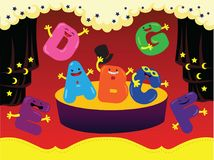 The Alphabet Show Vector Illustration. For many purpose such as animation, website and blog element, cover and illustration book, poster, stationary, calendar Royalty Free Illustration