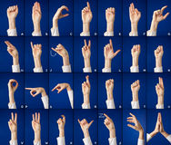 Alphabet in sign language Stock Photo