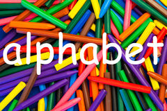 Alphabet. Sign. Alphabet - wax crayon letter & numeral series for nursery, kindergarten, schools, education & teaching resources royalty free stock photography
