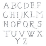 Alphabet sketch. Universal template for greeting card, web page, background Royalty Free Stock Photo