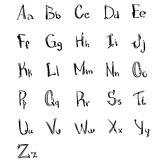Alphabet Small Capital Letters Collection Sketch Hand Drawn Set Royalty Free Stock Photos