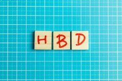 Alphabet on small plate on wood table for happy birthday image. The alphabet on small plate on wood table for happy birthday image royalty free stock image