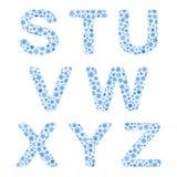 Alphabet from snowflakes Stock Photo