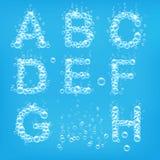 Alphabet of soap bubbles vector royalty free illustration
