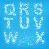 Alphabet of soap bubbles vector Stock Photo