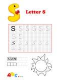 Alphabet, Sonne Stockfoto