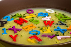 Alphabet soup Royalty Free Stock Image