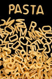 Alphabet soup pasta Royalty Free Stock Images