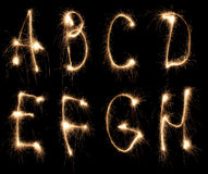 Alphabet sparkler Stock Photo