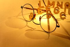Alphabet And Spectacles Stock Image
