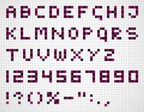 Alphabet in squares Stock Image