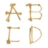 Alphabet squelettique A-D Photos libres de droits