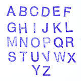 Alphabet stamp Royalty Free Stock Photography