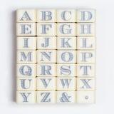 Alphabet stamps Royalty Free Stock Photos