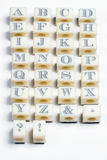Alphabet stamps Stock Images