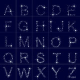 Alphabet of the stars, letter Stock Photo