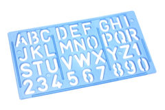 Alphabet Stencil. On White Background Royalty Free Stock Photos