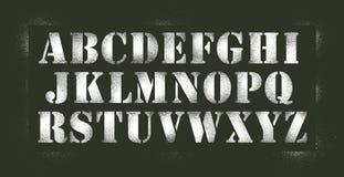 Alphabet stencil spray Stock Photos