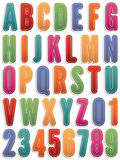 Alphabet stickers Royalty Free Stock Photo