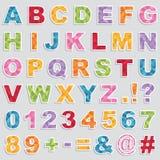 Alphabet stickers Stock Image