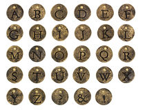 Alphabet Stone Button Charms Stock Images