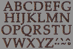 Alphabet stone letter set Royalty Free Stock Images