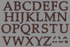 Alphabet stone letter set Royalty Free Stock Images