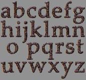Alphabet stone letter set Royalty Free Stock Photos