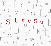 Alphabet stress background Stock Photos