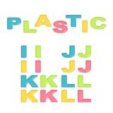 Alphabet stylized colorful plastic Stock Image