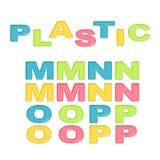 Alphabet stylized colorful plastic Royalty Free Stock Photography