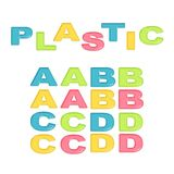 Alphabet stylized colorful plastic Stock Photography